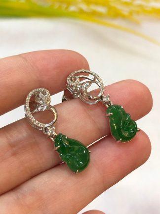 imperial jade ruyi earrings