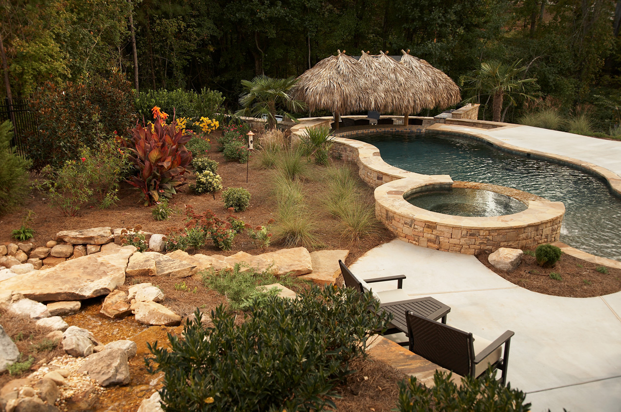 Tropical Backyard Oasis   Classic Landscapes on Tropical Backyard  id=81525