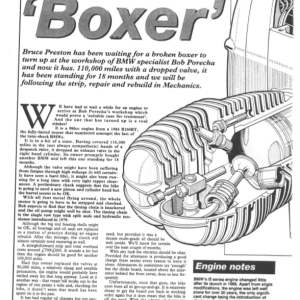 BMW Boxer Rebuild