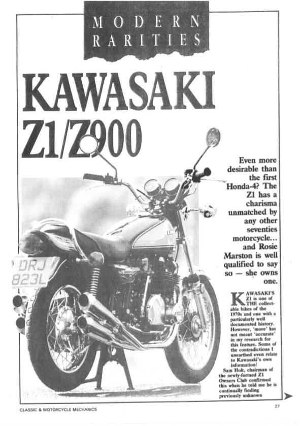 Kawasaki Z1/Z900