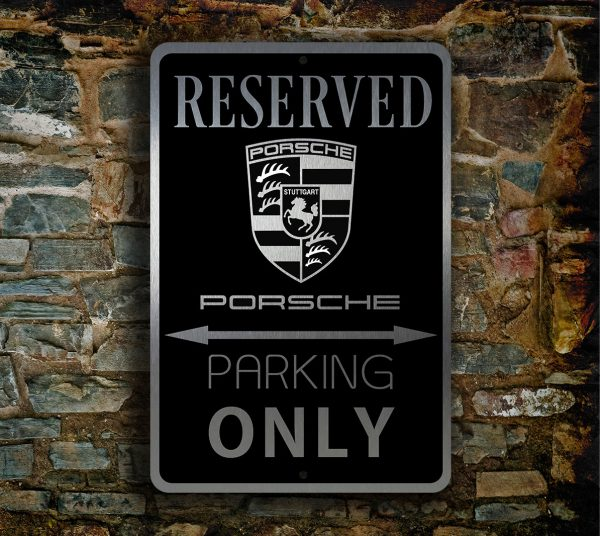 Porsche Sign Porsche Garage Sign Porsche Parking Only