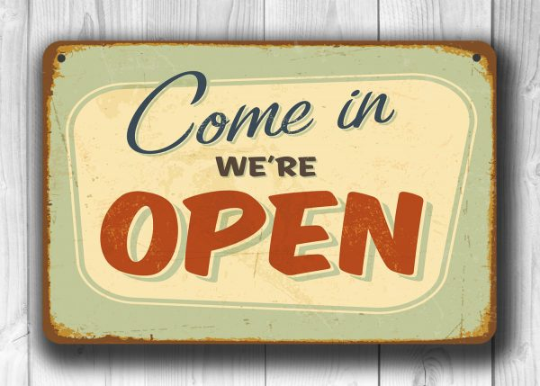Closed Sign Open Sign Double Sided Classic Metal Signs