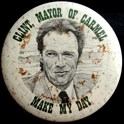 Clint Eastwood as Mayor of Carmel California Badge