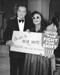 Bob Hope, Classic Movie Actor, Fight for Sight Donation