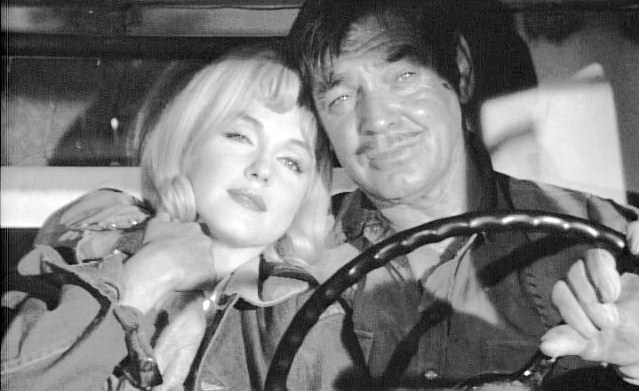 Marilyn Monroe and Clark Gable in The Misfits, Classic Movie Actress, Classic Movie Actor, John Huston