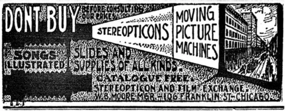 Stereopticons Advertisement, 1905
