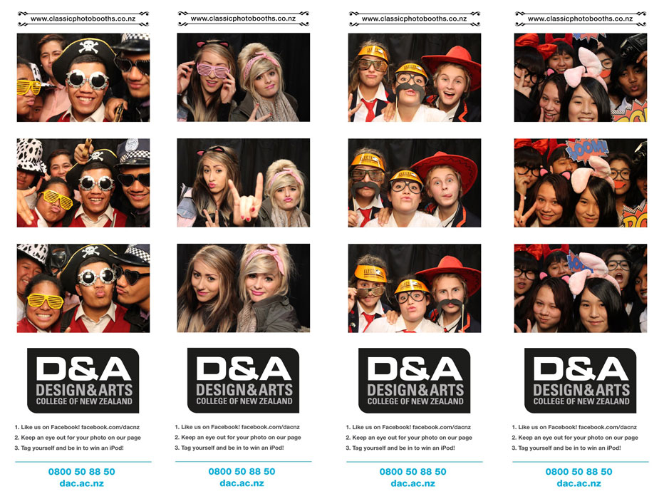 DAC Photo Booth at the Careers Expo CBS Christchurch
