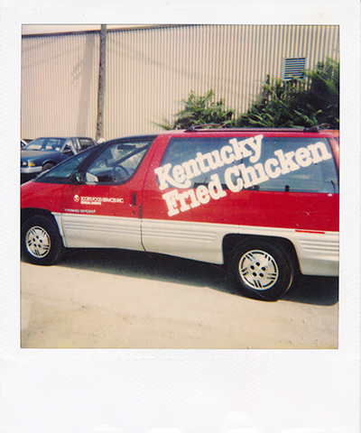 KFC kentucky fried chicken van cut vinyl