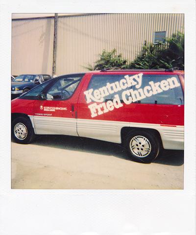 KFC kentucky fried chicken van cut vinyl