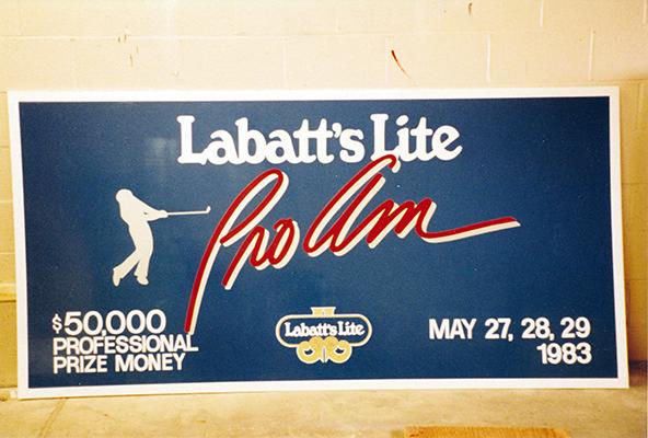 labatts light beer banner Pro Am Golf