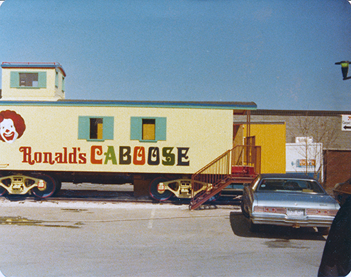 McDonald's Caboose Hand painted