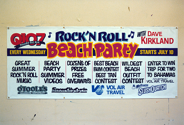 Q107 Radio Hand Painted Banner