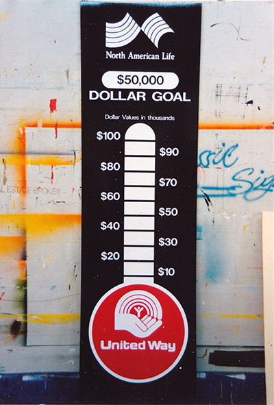 United Way Donation Thermometer Sign