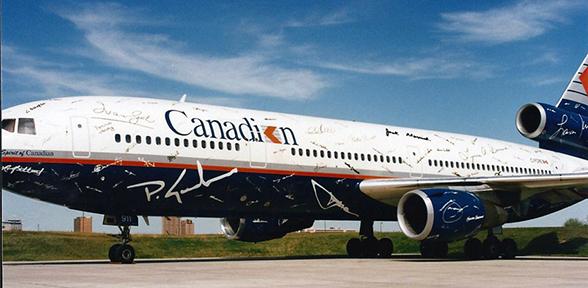 Canadian Airlines Vinyl Signature Plane
