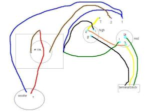 Please take a look at my wiring diagram  AR3a speakers