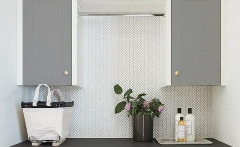 chevron white mosaic