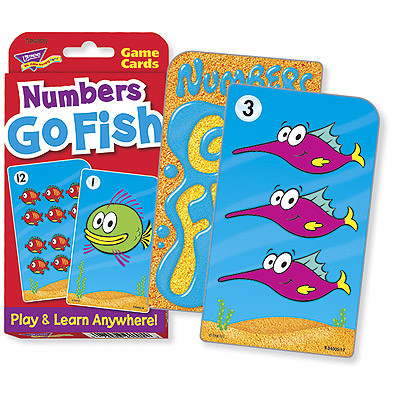 Educational Games Numbers Go Fish Challenge Cards