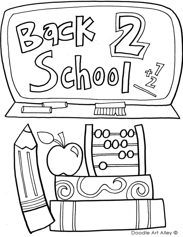 back to school coloring pages & printables  classroom doodles