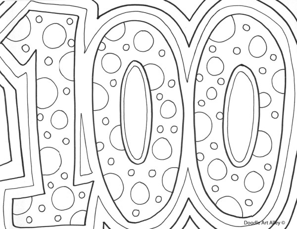 100th day of school coloring pages # 6