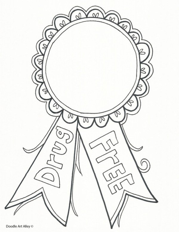 red ribbon week coloring pages # 8