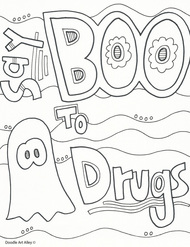 red ribbon week coloring pages # 2