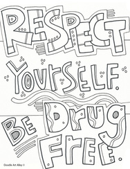 red ribbon week coloring pages # 70