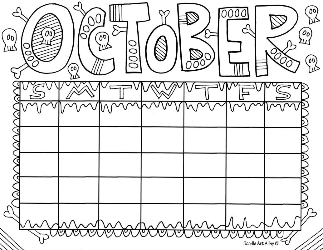 October Classroom Doodles