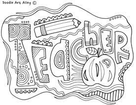 teacher appreciation coloring pages # 6