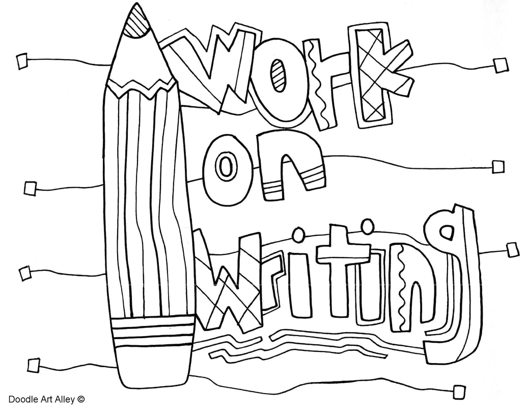 Writing Coloring Pages And Printables