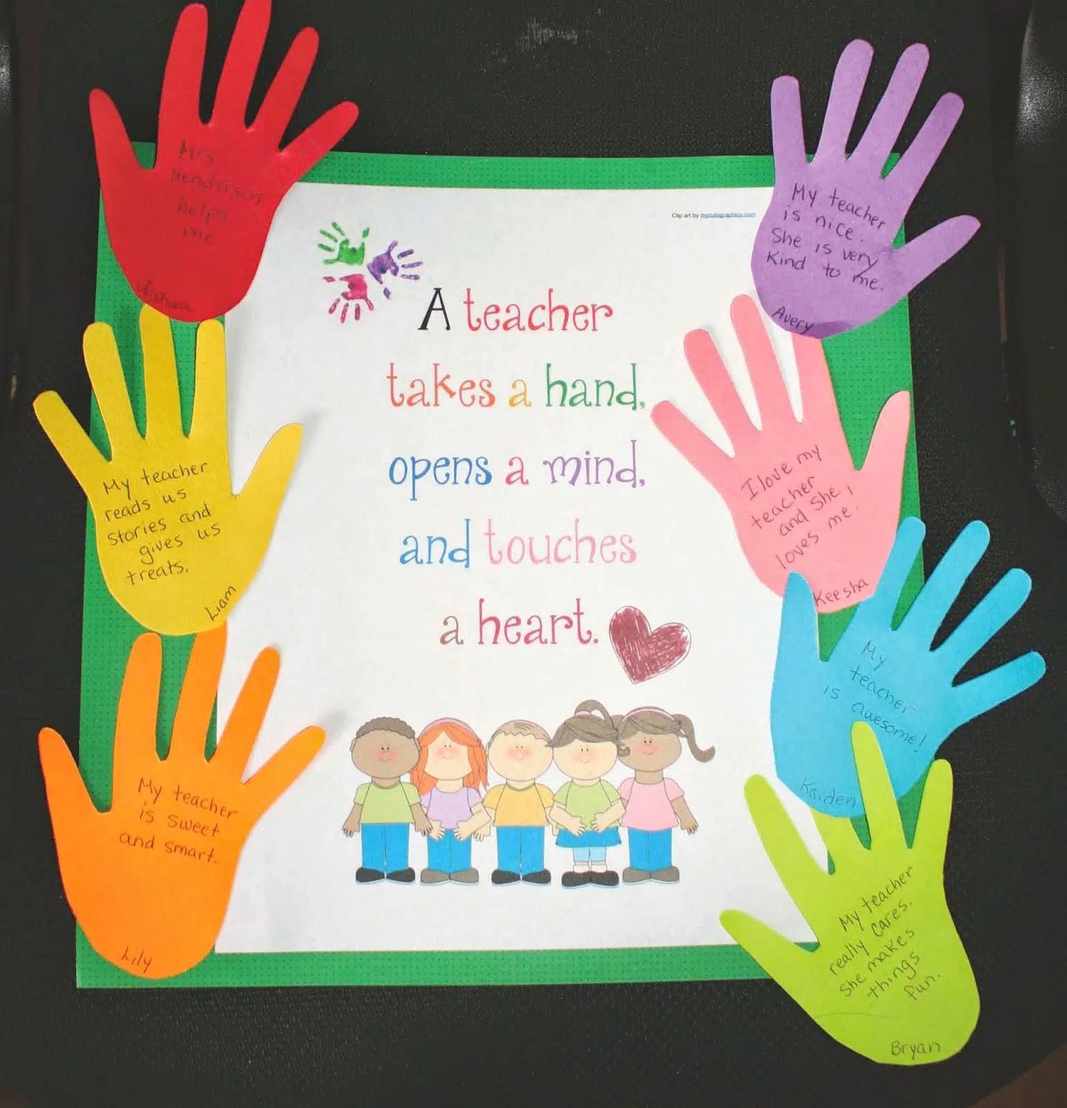 A Keepsake Poster Card For The Teacher