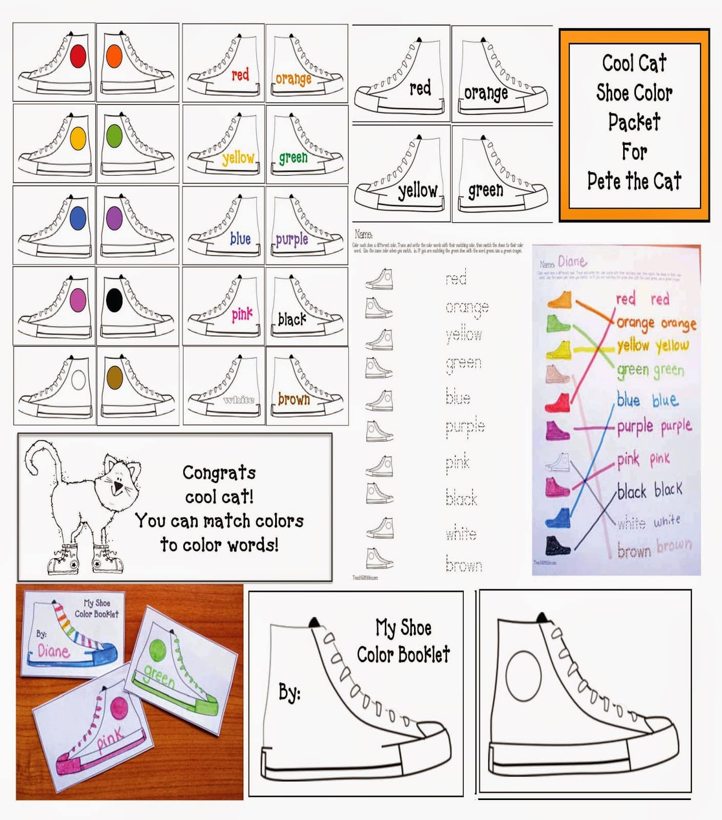 Pete The Cat Activities For I Love My White Shoes