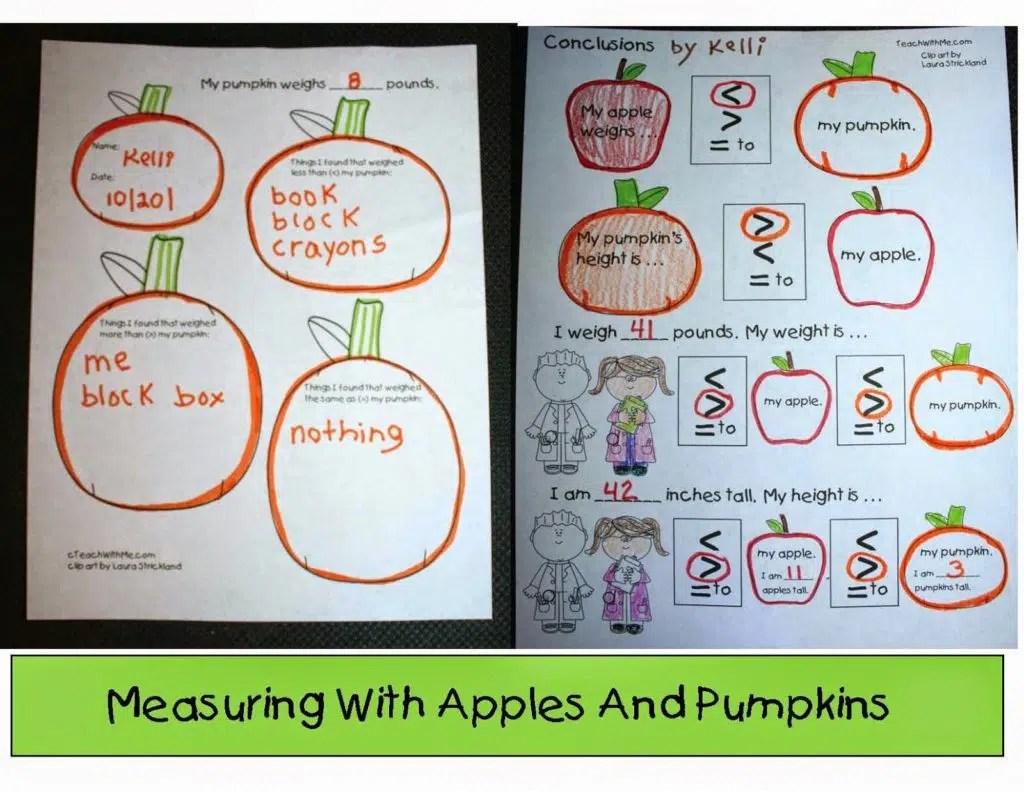 Measuring Apples And Pumpkins