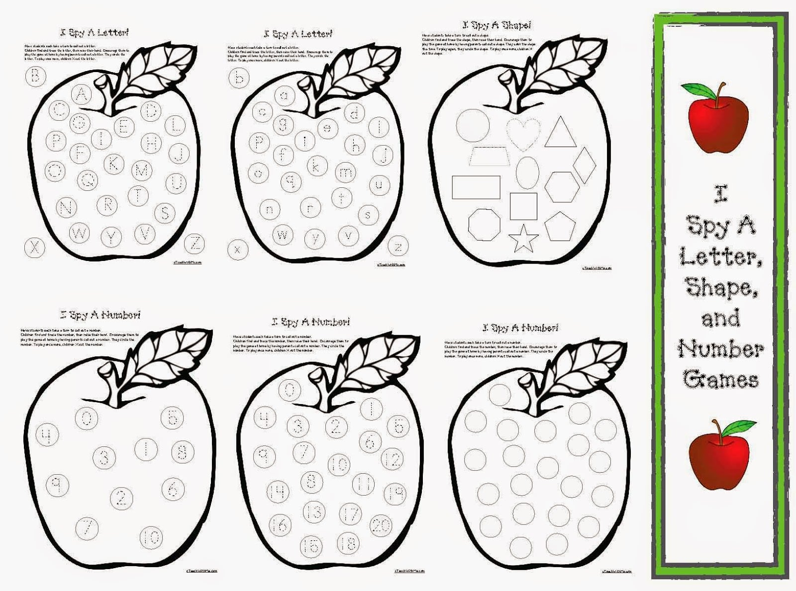 Apple Games I Spy Letters Shapes And Numbers