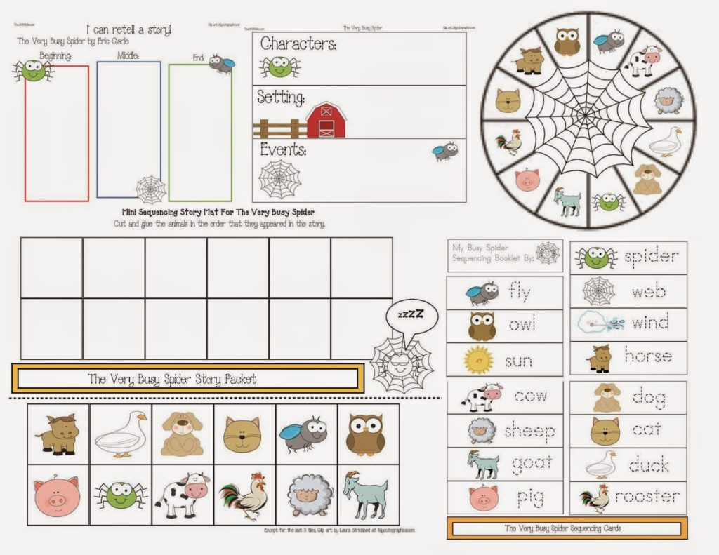 The Very Busy Spider Story Packet