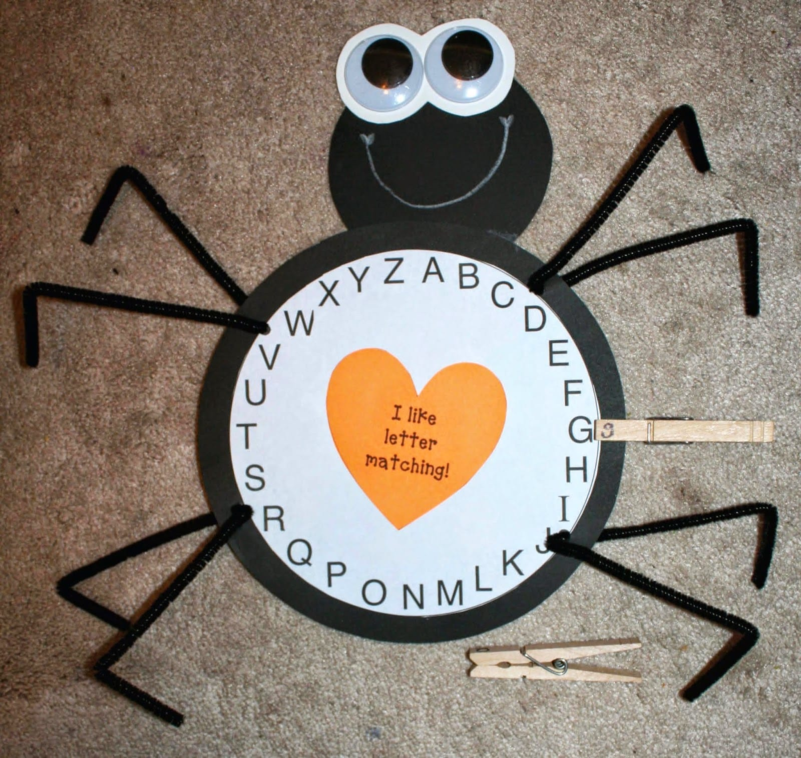 Spider Alphabet Activity