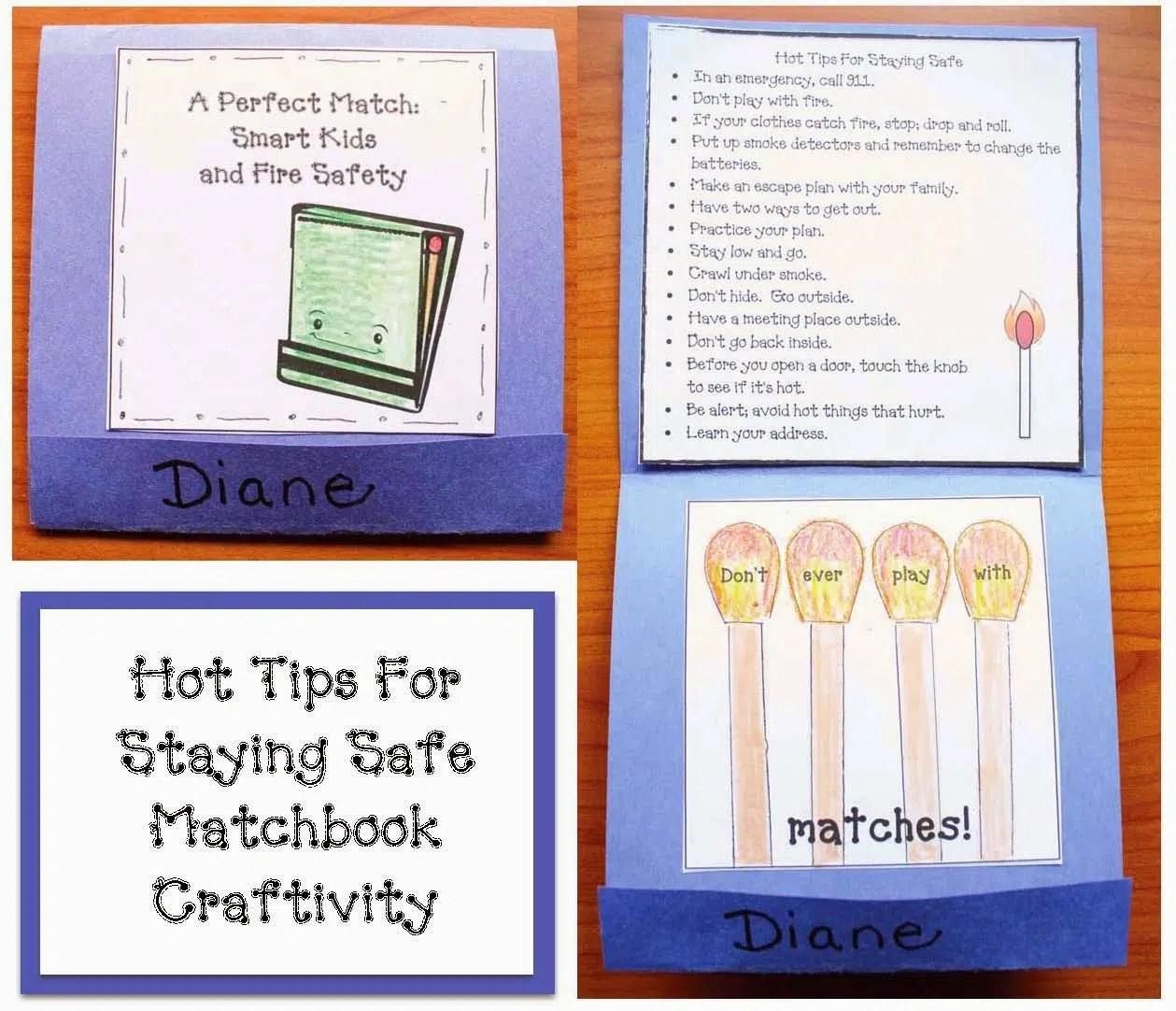 Fire Safety Matchbook Craft