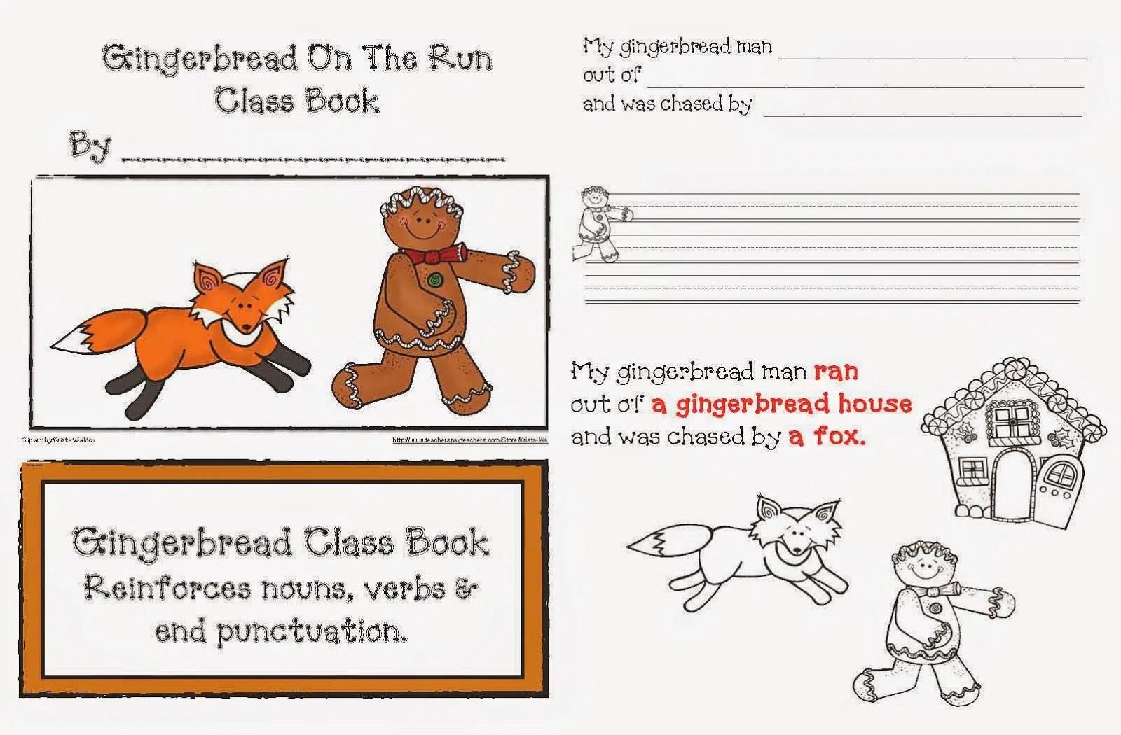Gingerbread On The Run Class Book