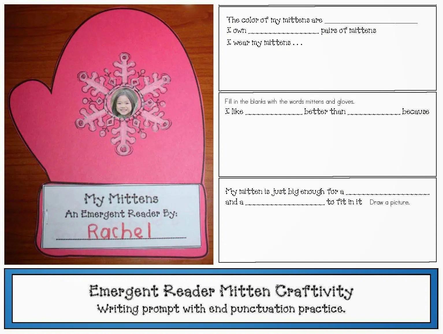 Emergent Reader Mitten Craftivity