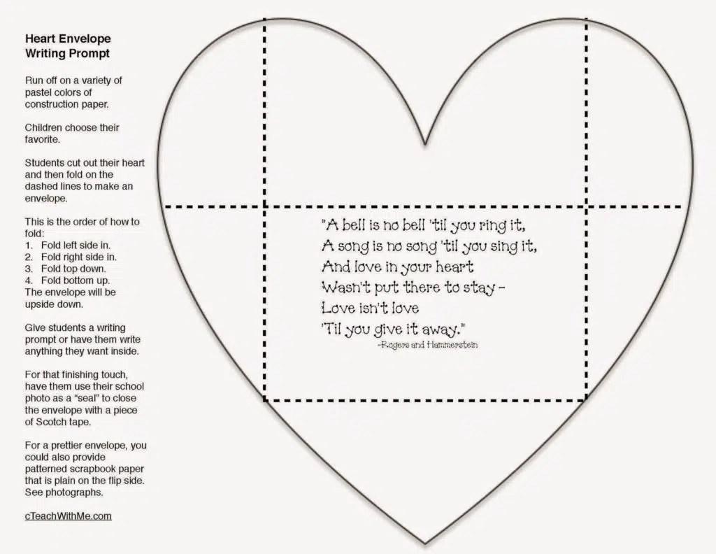 Valentine Writing Prompt Craftivity