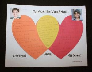Valentine Venn Friends  Classroom Freebies