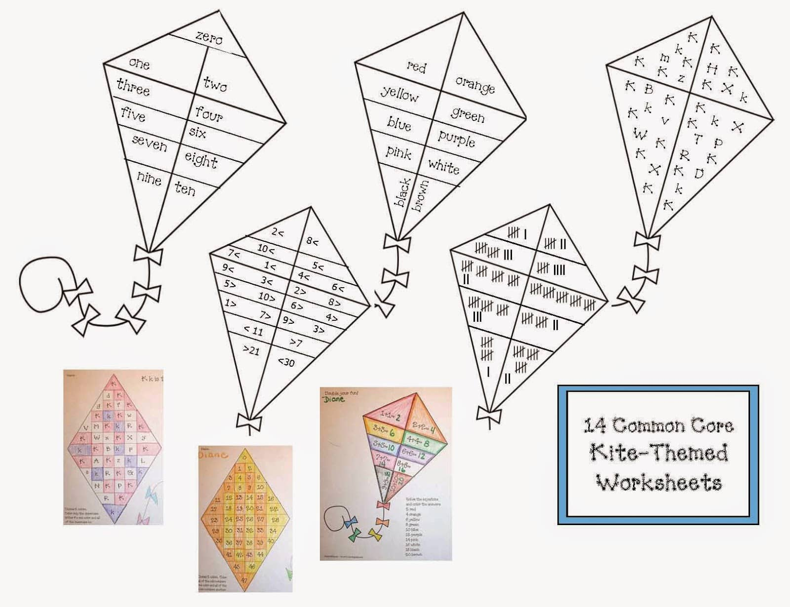 Can Do Common Core Kite Activities
