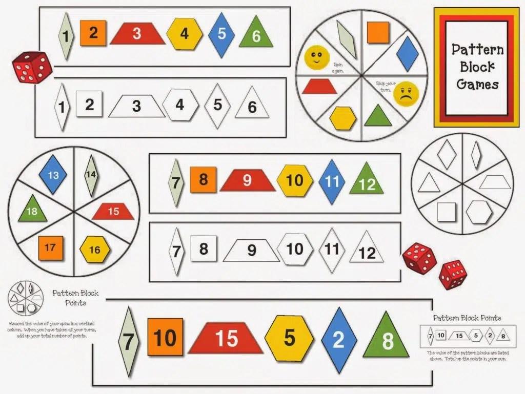 Pattern Block Games