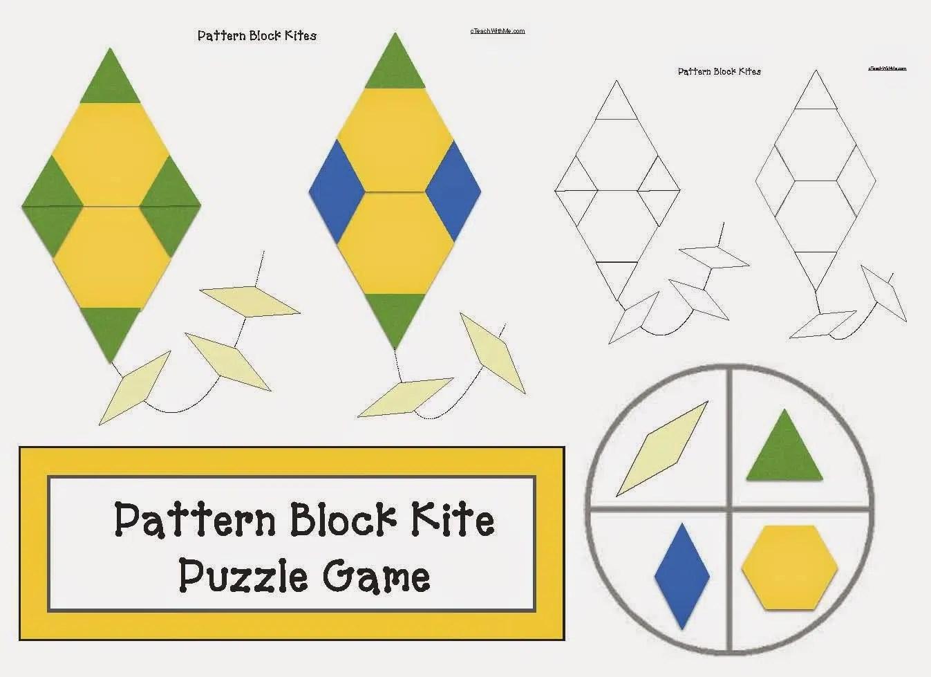 Pattern Block Kite Puzzle Games