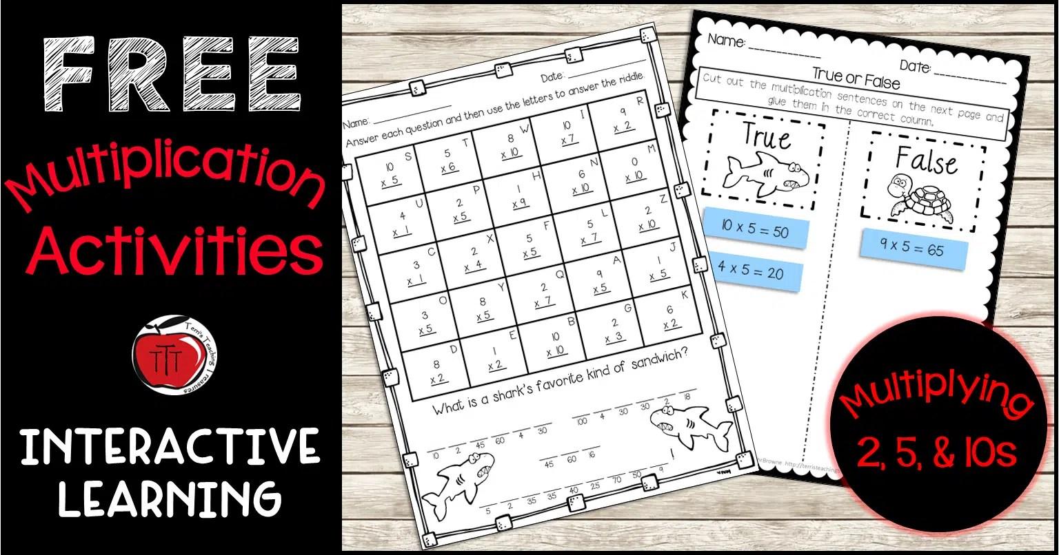 Free Multiplication Activities