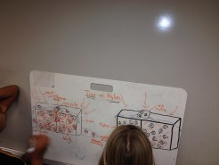 A 6th grade initial model of heat conduction. Photo by Peter A'Hearn
