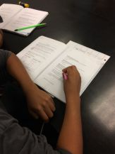 Students use their science notebooks as a sense-making tool.