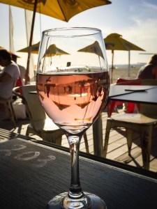 glass rose sunny beach