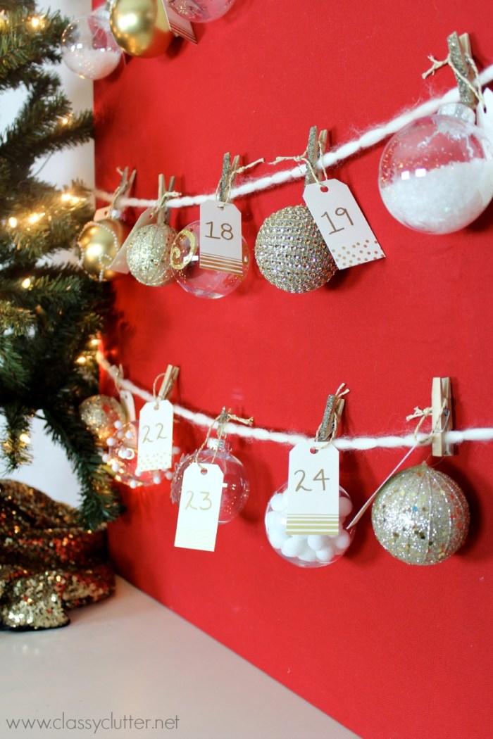 DIY Advent Ornament Tree 2
