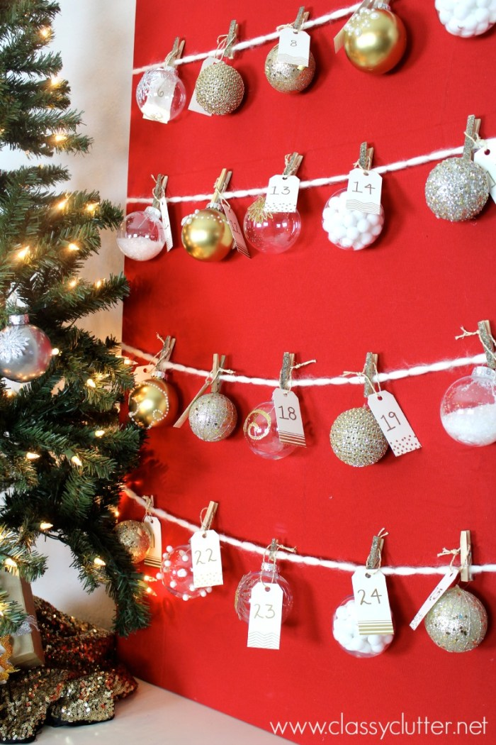 DIY Advent Ornament Tree 3