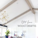 The Result Of My Diy Faux Wood Beams Classy Clutter